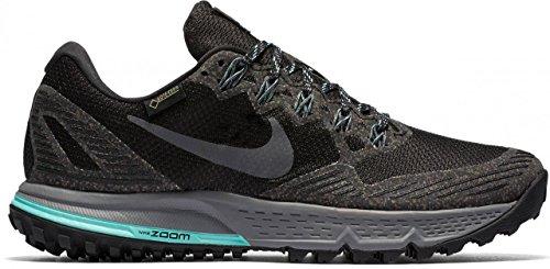 Nike Mädchen 805570-001 Traillaufschuhe, schwarz Dunkelgrau Hyper Türkis Cool grau, 35.5 EU