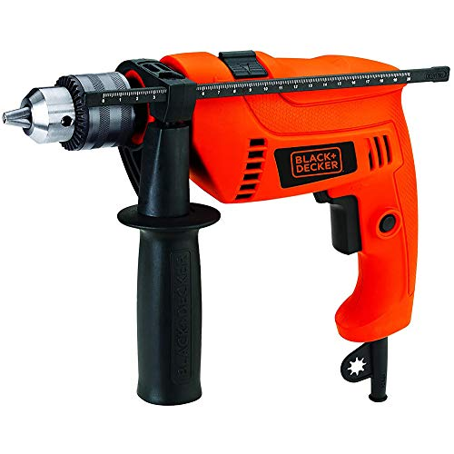 BLACK+DECKER HD555 550W 13mm Variable Speed Reversible Hammer Drill/Driver (HD555-IN)