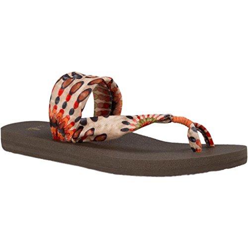 Sanuk Womens Yoga Sling It On Prints Sandal/Flip Flops/Slipper Footwear Size 06 Melon Pinwheel