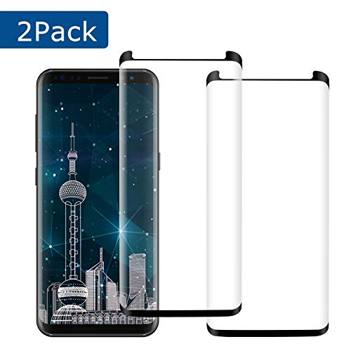 [2 Pack] YRMJK Galaxy Note 9 Screen Protector Anti-Fingerprint 3D Curved Tempered Glass 9H Hardness Anti-Bubble Compatible Samsung Galaxy Note 9