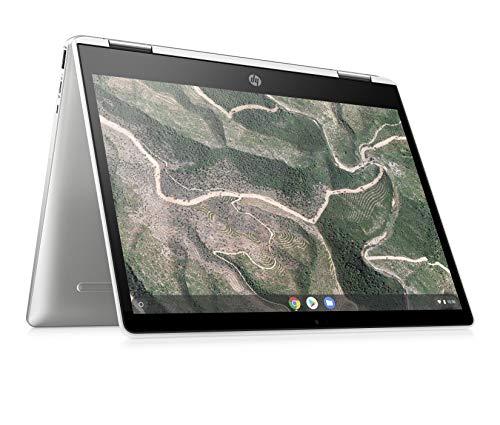 HP - PC Chromebook x360 12b-ca0006nl Convertibile, Intel Pentium Silver N5030 , RAM 4 GB, eMMC 64 GB, Sistema Operativo Chrome OS, Google Play Store, Schermo Touch FHD 12 , Audio B&O, USB-C, Argento