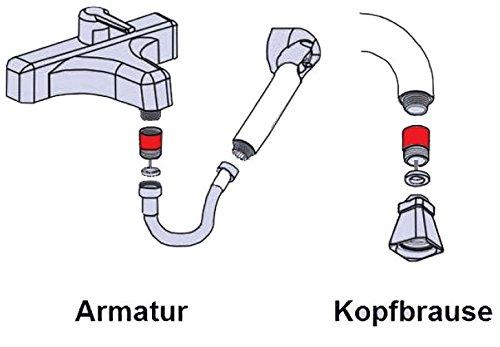 Design Wassersparer für Handbrause / Kopfbrause / Armatur / DuschAirator - 4