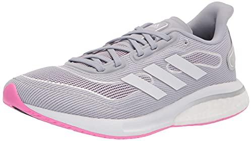 adidas Supernova, Zapatillas de Running Mujer, Halo Silver White Screaming Rosa, 43 1/3 EU