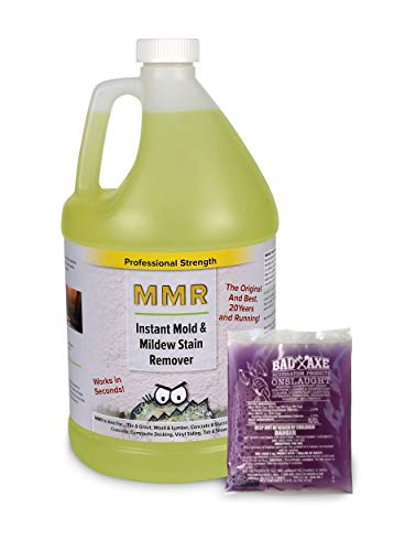 MMR Mold Killer and Mold/Mildew Stain Remover Combo Pack-1 Gallon Instant Mold/Mildew Stain Remover and 2 oz. Concentrate (Makes 1 gal.) Mold/Mildew Disinfectant