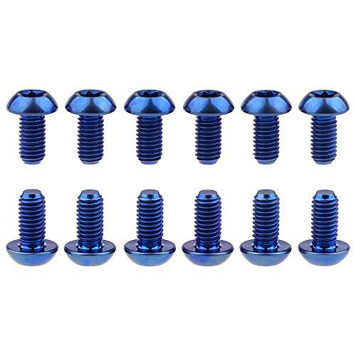 12 Stück Ti Titan Schrauben Torx M5 x 10 Fahrrad Scheibenbremse Fahrrad Rotor Schrauben Gr5 (blau)