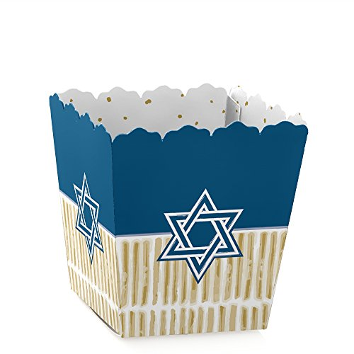 Big Dot of Happiness Happy Hanukkah - Party Mini Favor Boxes - Chanukah Treat Candy Boxes - Set of 12