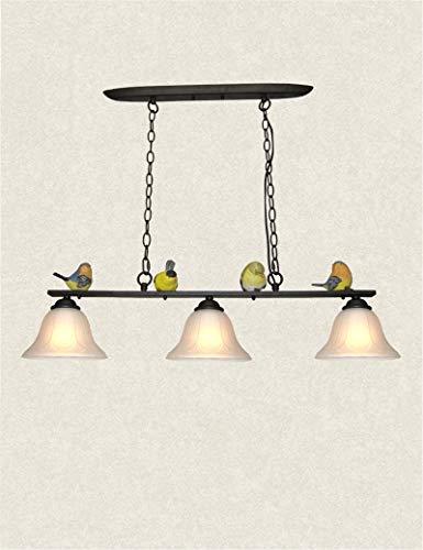 Kroonluchter meer energie besparen drie zak ijzer glas schaduw hars LAND creatieve kandelaar restaurant romantische bar kandelaar - mode -1 licht