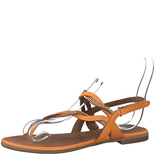 Tamaris 1-28156-24 Damen Zehentrenner Sandalen Leder, Schuhgröße:42 EU, Farbe:Orange