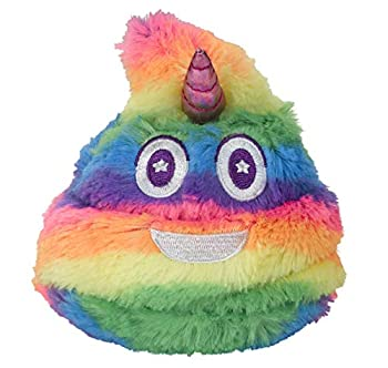 Unicorn Poop Emoji Farting Plush Toy - Makes 7 Funny Fart Sounds – Simply Squeeze Unipoop to Activate & Hear it Fart - Fun Dog Toy - Perfect Rainbow Toy for a Unicorn Party - Measures a Cute 4 x 4.5