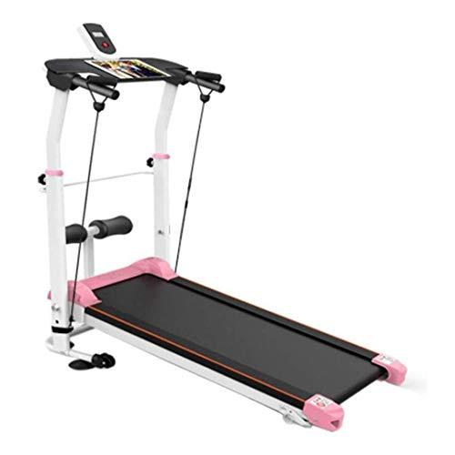WJFXJQ Cinta de Correr Plegable eléctrico con inclinación, Caminar Correr Correr máquina de Fitness con Azul retroiluminada LCD for Home & Gym Cardio