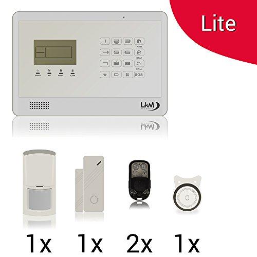 KIT Lite M2EB modello LITE Antifurto Allarme Casa LKM Security Kit Wireless Senza Fili Controllabile da Cellulare con App Gratuita. Menù con Sintesi Vocale in Italiano e Manuale in Italiano