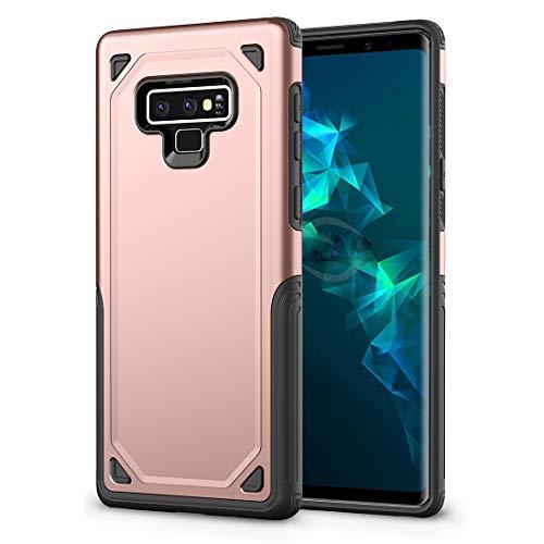 BAIYUNLONG Funda Protectora, Funda Protectora Resistente a los Golpes for Galaxy Note 9 (Verde Militar) (Color : Rose Gold)