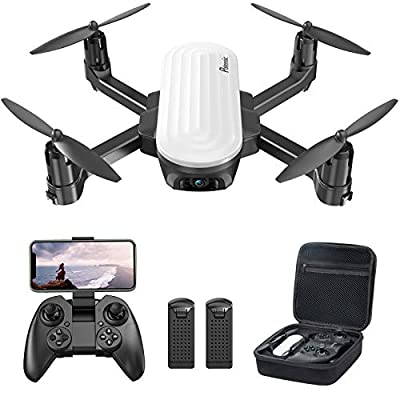 Potensic Mini Drone With 2K Camera For Kids & Adults Beginner, Foldable FPV Quadcopter with Gravity Sensor/Gesture Control / Optical Flow / Headless / Trajectory Flight