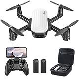 Potensic Elfin Drone con Cámara 2K, con Control de Gestos RC Quadcopter de Video en Vivo , Modo Órbita, G-Sensor, Vuelo de Trayectoria, 20 Minutos Vuelo, Drone con Bolsa para Adultos y Niños