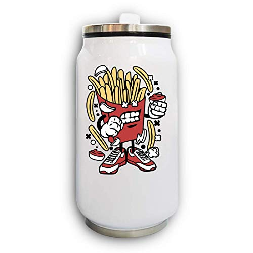 Iprints Cartoon Style French Fries Urban Food Lover Thermal Beverage Can Thermos