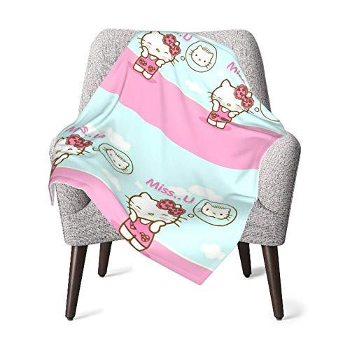 Manta para bebé unisex Miss U Kitty franela súper suave o manta mullida, manta de recepción para bebés o recién nacidos para cuna, manta de invierno, cochecito, viajes, al aire libre, decorativa