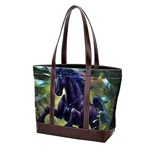 para madres, mujeres, niñas, señoras, estudiantes, peso ligero, correa, bolso de mano, bolsos de hombro, monedero, compras, unicornio prismático, animal fresco