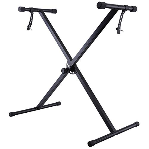 Double Braced X Frame Music Piano Keyboard Stand & Chair by Crystals...