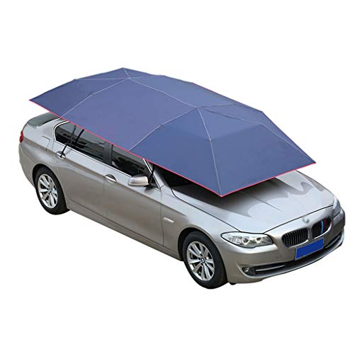 JIN Semi-automatische opvouwbare auto-paraplutent, draagbare auto-paraplu tent, beweegbare carport-auto-overkapping met zonwering, anti-uv, sneeuw-wind-bewijs (handmatig)