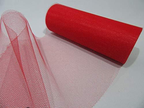 Mooi lint 2 meter x 15 cm Rood Tulle Mesh Netting 150mm (bijna 6 inch) Tutu onderrok 15 cm