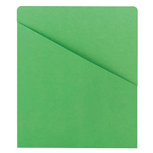 Smead Organized Up Slash File Jacket, Letter Size, Green, 25 per Pack (75432)