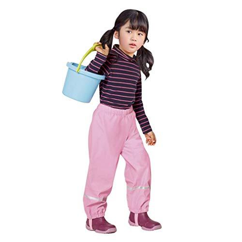 Gaga stad Kids Waterdichte Broek Jongens Meisjes Waterdichte Broek Elastische Fleece Gevoerde Regenbroek Winter Sneeuw Regenbroek 85-130 cm