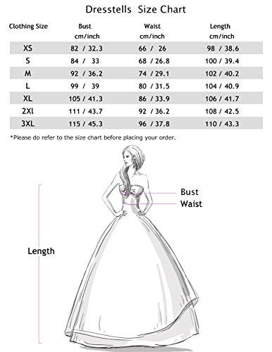 Dresstells Damen Vintage 50er Rockabilly Kurzarm Swing Kleider Partykleid Pink L - 4