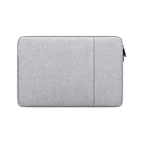 Laptop Sleeve for 13 Inch MacBook Air and MacBook Pro, Compatible with 13 -13.3 Inch Computer Notebook, Waterproof Shock Resistant Laptop Bag Tablet iPad Tab Case with Accessory Pocket, Gray