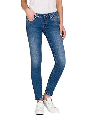 Replay Damen LUZ Skinny Jeans, Mid Blue Denim 9, 28W / 32L