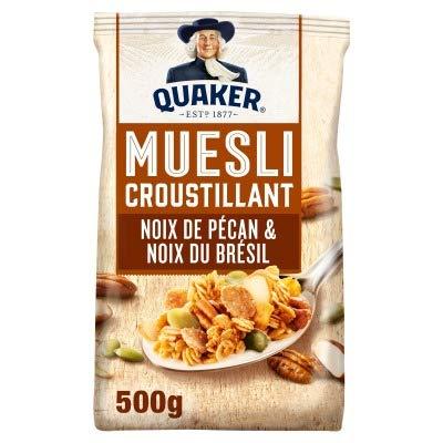 Quaker Muesli croustillant noix de pécan & noix du Brésil - Le sachet de 500g