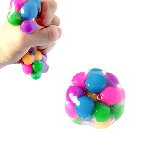 Stress Relief Ball Toys for Kids And Adults, Fidget Sensory Toy Autism Special Needs Anti-Anxiety Squeeze Squishy Jellyball (A)