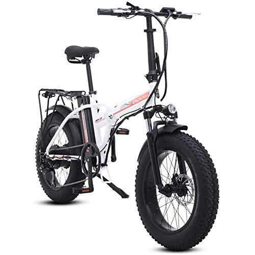 FJNS Bicicleta Electrica Plegable Aluminio Bicicleta eléctrica de Nieve/Playa de 20 Pulgadas...