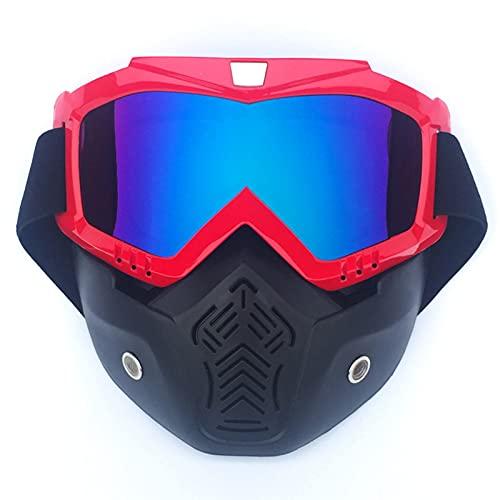 CHQY Las Gafas de la Motocicleta Pueden ser Desmontables, Retro Anti-Niebla, Filtro Transpirable, Deportes al Aire Libre Masculinos, luchas contra Gafas Anti-UV de la Car S