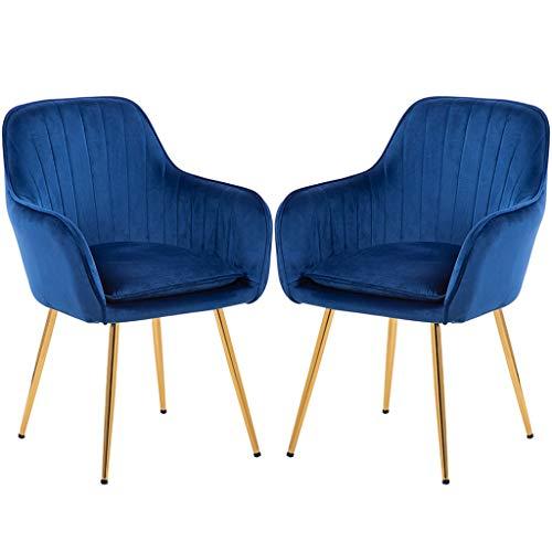 Eetkamerstoelen keuken set 2 stuks teller lounge woonkamer corner stoelen staal poten kuip stoelen stoel met armleuningen en rugleuningen