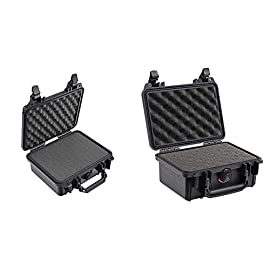 Pelican 1200 case with foam (black) & 1120 case with foam (black) 5 the pelican 1200 case is watertight, crushproof, and dust proof. Pelican 1200 case is built with automatic pressure equalization valve. The 1220 case has stainless steel hardware.