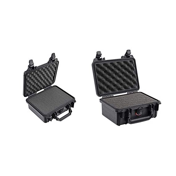 Pelican 1200 case with foam (black) & 1120 case with foam (black) 1 the pelican 1200 case is watertight, crushproof, and dust proof. Pelican 1200 case is built with automatic pressure equalization valve. The 1220 case has stainless steel hardware.