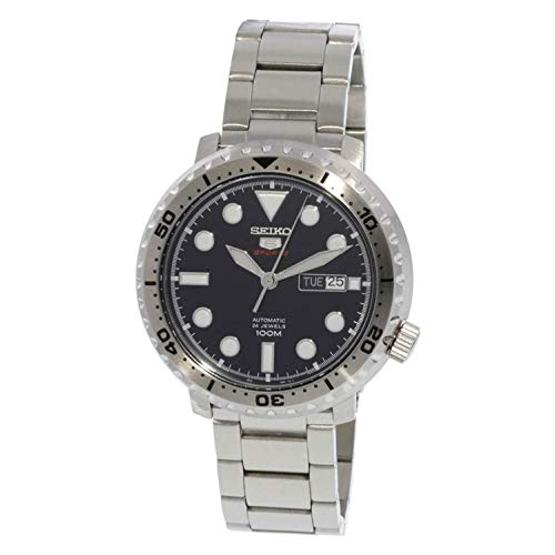 Seiko 5 Sports 100m Automatic 'Bottle Cap' Steel Watch SRPC61K1