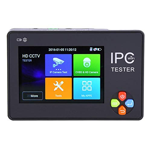 IPC1600ADHplus AHD CVI TVI Tester IP-camera, 3,5 inch touchscreen, 4K IP-camera tester monitor 100V-240V EU Plug