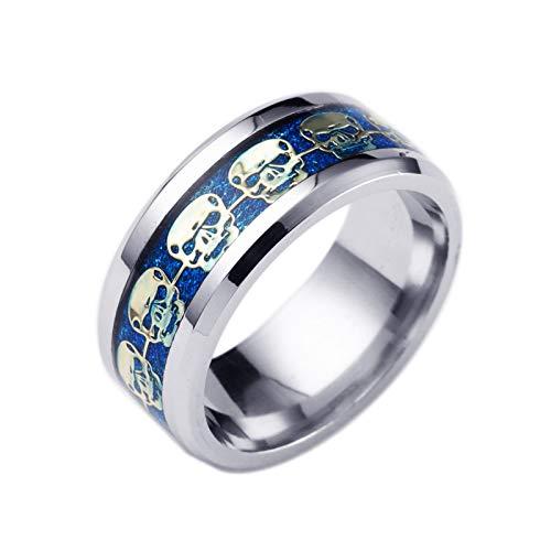 Beglie Ring für Herren Ring Herren Silber Silber Ehering Hochzeit Verlobung Band Silberring Jugendstil Herren Ringe Vintage Geschenke für Männer Größe 54 (17.2)