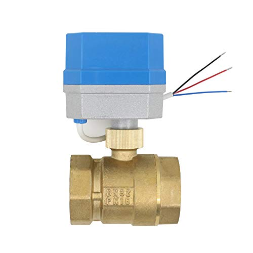 12v - 2 tipos de conexion - valvula esfera motorizada normalmente cerrado valvula 2 vias motorizada electrovalvula 12v 1/2 3/4 1 1-1/4 pulgada (1-1/4 pulgada DN32)