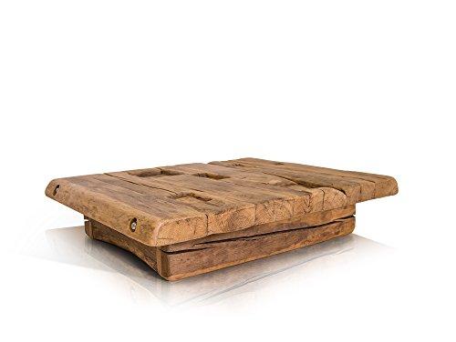 moebel-eins Wikinger Couchtisch 90x90 cm Höhe: 22 cm, Material Massivholz