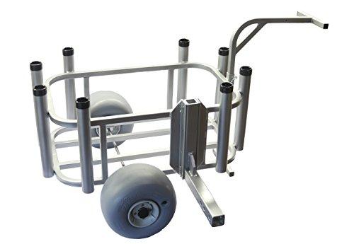 Plattinum Products Beach Cart w/Wheeleez and Receiver Arm (Mill Finish)