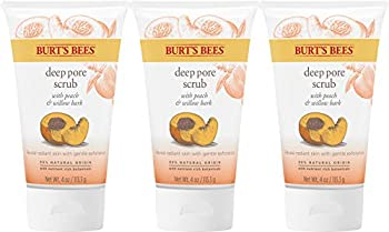 Burt s Bees Peach and Willow Bark Deep Pore Exfoliating Facial Scrub 4 Oz  Pack of 3   Package May Vary