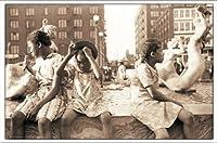 ポスター ジョン バション Hot Summer in the City 1940 額装品 アルミ製ベーシックフレーム(ホワイト)