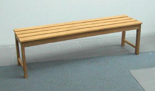 Moderne zitbank krukbank SOLO 150 cm, acaciahout