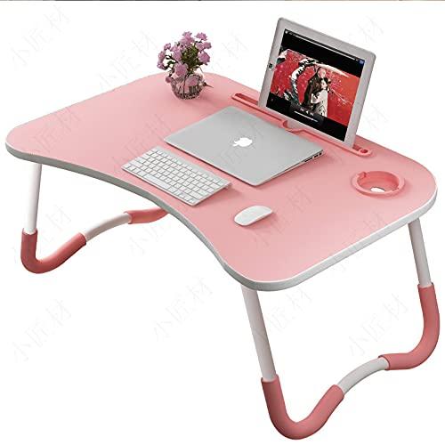 ZGHBZZY Mesa de cama para ordenador portátil, bandeja de desayuno con patas plegables, escritorio portátil de pie, soporte de lectura para sofá, suelo, niños, tamaño estándar