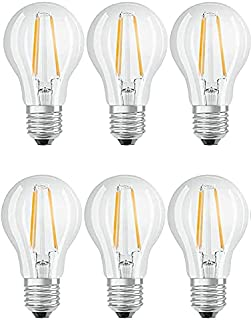 OSRAM LED LAMP CLASSIC A bulb shape in filament style, base: E27, 7 W clear 2700 K Warm White (Pack Of 6)