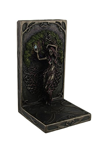 Veronese Design Selina Fenech Earth Life Magic Antique Bronze Finish Bookend