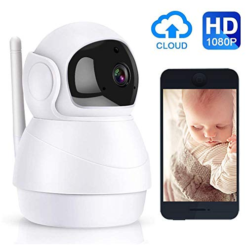 SUNSEATON IP-Camera, 1080p-Bewakingscamera, Wifi IP-Camera Met Nachtzicht, Draaibare Lenzen, Bidirectionele Audio, Cloudopslag, Voor Babymonitor/iOS/Android