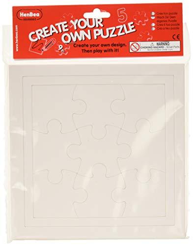 HenBea - Crea tu puzzle 9 piezas pack 5 unidades 839/B